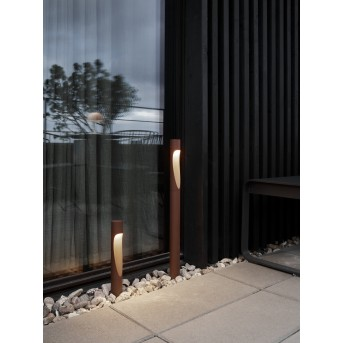 Louis Poulsen Flindt Pollerleuchte LED Rostfarben, 1-flammig