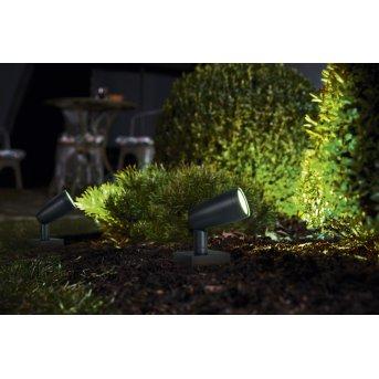 LEDVANCE GARDEN SPOT Aussenwandleuchte Grau, 1-flammig, Farbwechsler