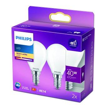 Philips 2er Set LED E14 4,3 Watt 2700 Kelvin 470 Lumen