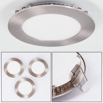 Finsrud Einbauleuchte 3er Set LED Nickel-Matt, 1-flammig