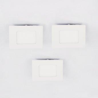 Finsrud Einbauleuchte 3er Set LED Weiß, 1-flammig