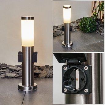 Gaborone  Wegeleuchte LED Nickel-Matt, 1-flammig