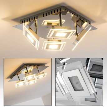 Cerreto Deckenleuchte LED Chrom, 4-flammig
