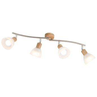 Nino Leuchten DAYTONA Spotleuchte LED Holz hell, 4-flammig
