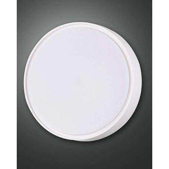 Fabas Luce HATTON Außendeckenleuchte LED Weiß, Bewegungsmelder