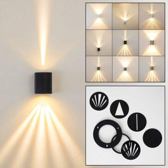 Außenwandleuchte Mora LED Schwarz, 2-flammig
