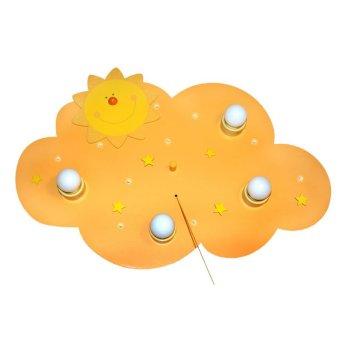 Waldi Deckenleuchte Sonne Gelb, 4-flammig
