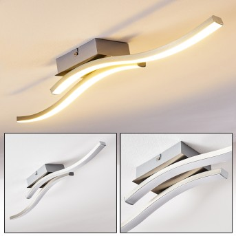 Letala Deckenleuchte LED Nickel-Matt, Chrom, 2-flammig