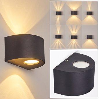 Windhoek Außenwandleuchte LED Anthrazit, 2-flammig