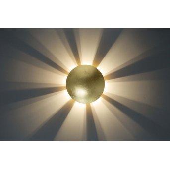 Wandleuchte Mezia gold Gold, 1-flammig