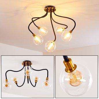 Hovslund Deckenleuchte LED Schwarz, Gold, 5-flammig