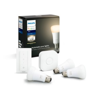 Philips Hue LED White E27 3er Starter-Set 2700 Kelvin