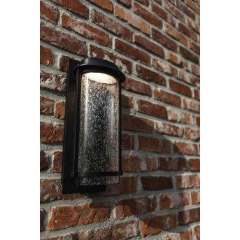 Lutec AQUARIUS Außenwandleuchte LED Schwarz, 1-flammig