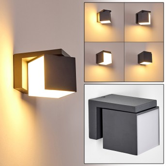 Swanek Außenwandleuchte LED Anthrazit, 1-flammig
