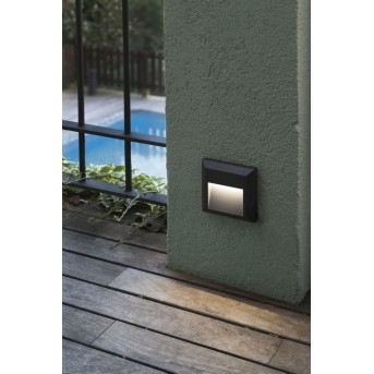 Faro Barcelona Grant Außenwandleuchte LED Anthrazit, 1-flammig