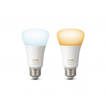 Philips Hue LED 2er Set Ambiance White E27 9,5 Watt 6500 Kelvin 806 Lumen