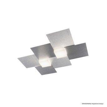 Grossmann CREO Deckenleuchte LED Aluminium, 2-flammig