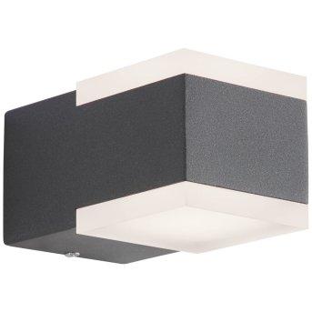 AEG Amity Außenwandleuchte LED Anthrazit, 2-flammig