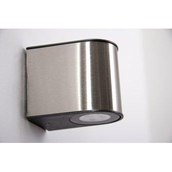 Lutec LED Aussenwandleuchte Stahl gebürstet, 6-flammig