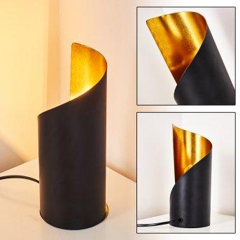 Yahuma Tischleuchte Schwarz-Gold, 1-flammig