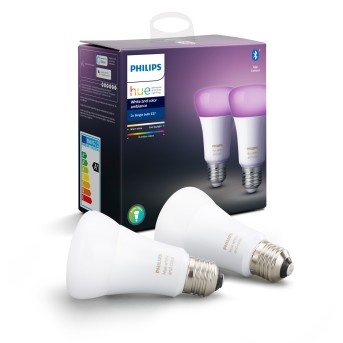 Philips Hue LED 2er Set Ambiance White & Color E27 9,5 Watt 6500 Kelvin 806 Lumen