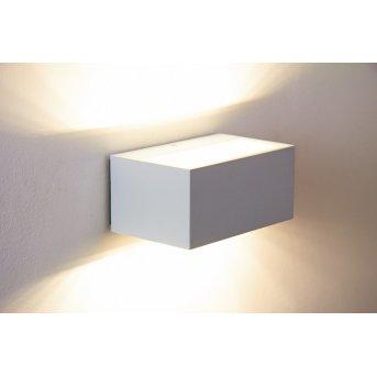 Lutec LED Aussenwandleuchte Weiß, 1-flammig