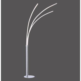 Leuchten Direkt Stehleuchte MAJA LED Chrom, 3-flammig