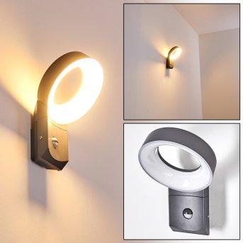 Meridian Wandleuchte LED Anthrazit, 1-flammig, Bewegungsmelder