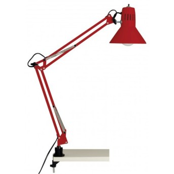 Brilliant Hobby Schreibtischklemmleuchte Rot, 1-flammig