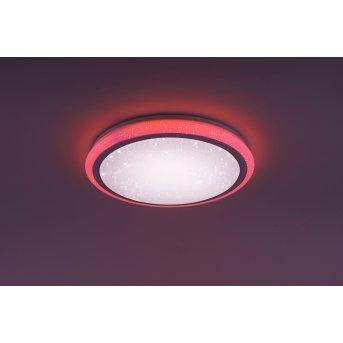 Leuchten Direkt Luisa Deckenleuchte LED Weiß, 2-flammig, Fernbedienung, Farbwechsler