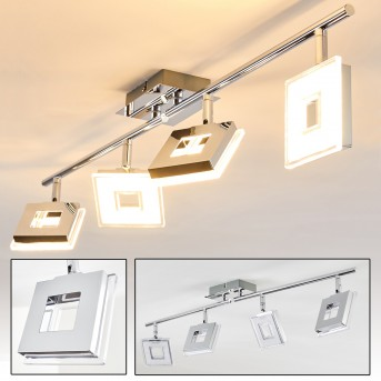 Krakau Deckenspot LED Chrom, 4-flammig