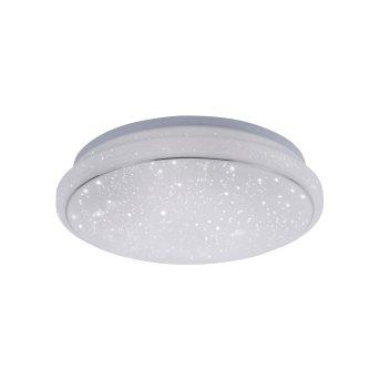 Leuchten Direkt Ls-JUPI Deckenleuchte LED Weiß, 1-flammig, Fernbedienung, Farbwechsler