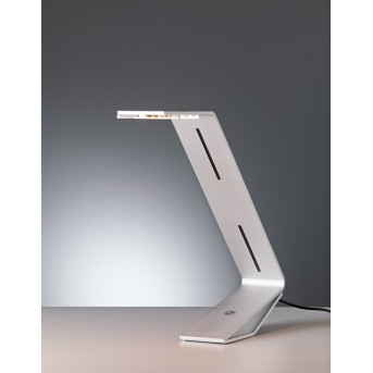 Tecnolumen Flad Tischleuchte LED Grau, Silber, 1-flammig