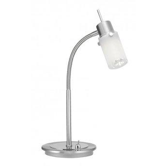 Leuchten Direkt MAX LED Tischleuchte Edelstahl, 1-flammig