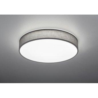 Trio Leuchten LUGANO Deckenleuchte LED Grau, 1-flammig, Fernbedienung