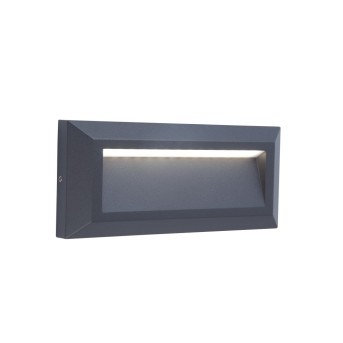 Lutec HELENA Aussenwandleuchte LED Anthrazit, 1-flammig