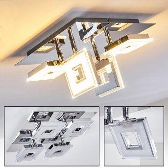 Krakau Deckenspot LED Chrom, 4-flammig