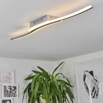 Rosselo Deckenleuchte LED Nickel-Matt, 1-flammig