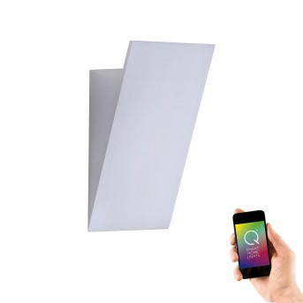 Paul Neuhaus Q-WEDGE Wandleuchte LED Aluminium, 1-flammig, Fernbedienung, Farbwechsler
