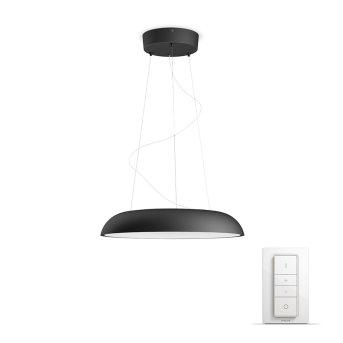 Philips Hue Ambiance White Amaze Pendelleuchte LED Schwarz, 1-flammig, Fernbedienung