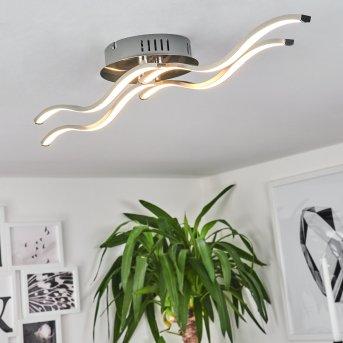 Deckenleuchte Tarent LED Stahl gebürstet, 1-flammig