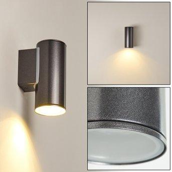 Brachy Außenwandleuchte LED Schwarz, 2-flammig