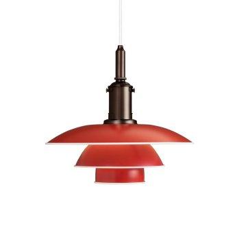 Louis Poulsen PH 3½-3 Pendelleuchte Rot, 1-flammig
