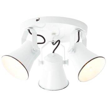 Brilliant Croft Spotrondell Weiß, 3-flammig
