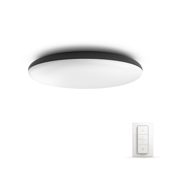 Philips Hue Ambiance White Cher Deckenleuchte LED Schwarz, 1-flammig, Fernbedienung
