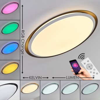 Vejle Deckenpanel LED Weiß, 2-flammig, Farbwechsler