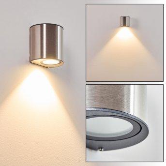 Vano Aussenwandleuchte LED Edelstahl, 1-flammig