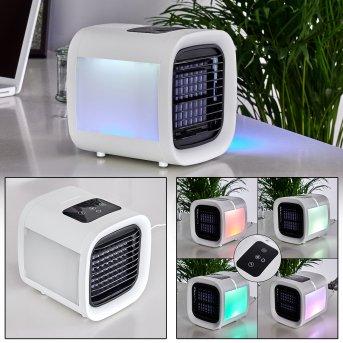Chania Ventilator LED Schwarz, Weiß, 1-flammig, Farbwechsler