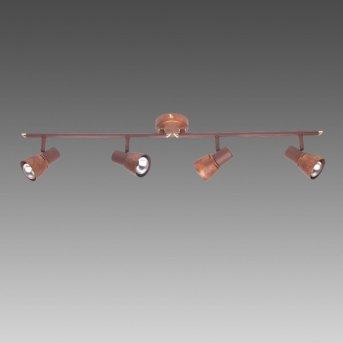 Brilliant Lava Spotrohr Kupferfarben, 4-flammig