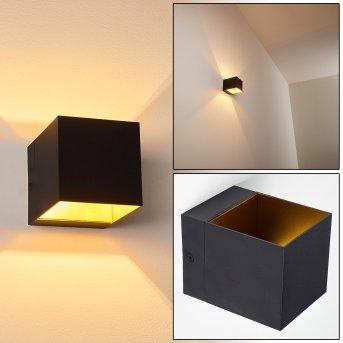 Svanskog Wandleuchte Schwarz-Gold, 1-flammig